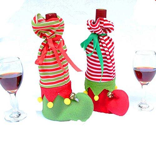 inflaschen Beutel Geschenk Beutel Tabellen Bein Abdeckungen Elf Elfen Fuß Schuh Bein Party Dekoration Grün (Grünen Tuch Elf Schuhe)