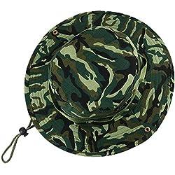 VILLAVIVI Sombrero de Pescador Camuflaje Plegable con Al Aire Libre Caza Viaje Pesca Gorro de pescador - Multicolor Selección (Verde camuflaje)