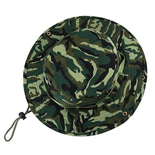 VILLAVIVI Sombrero de Pescador Camuflaje Plegable con Al Aire Libre Caza  Viaje Pesca Gorro de pescador e02994d3729