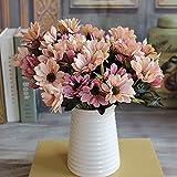 Ramo de flores artificiales con flores de seda (6 ramas de
