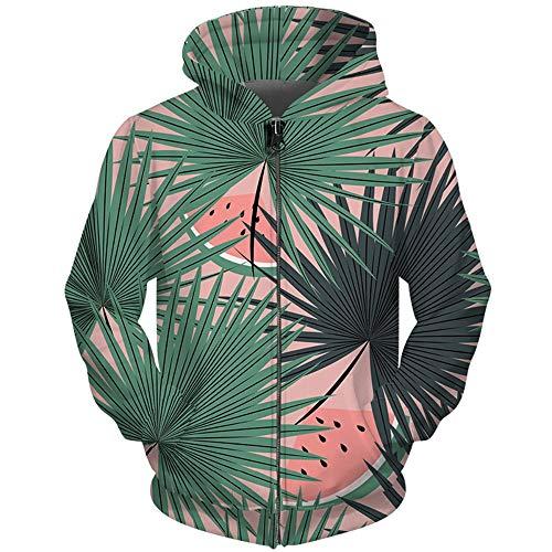 Snake beauty Propre Design Zipper Hoodie Impression 3D Homme Femme Sweat-Shirts Survêtements Imprimé La Feuille De Banane Pastèque Hommes Zip Hoody jusqu