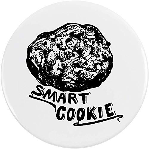 Azeeda 77mm 'Smart Cookie' Pin Knopf-Abzeichen (BB00040656) Cookie-pin