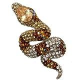 Acosta broches Multicolore &Topaze clair cristal Swarovski exotique Broche/pendentif serpent Boîte cadeau incluse