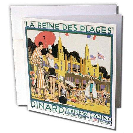 Plage Dinard die neue Casino Beach Scene Poster-Grußkarten, 15,2x 15,2cm, Set 6(GC 170529_ 1) ()