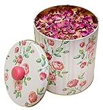 Rosenblütentee in Geschenkdose (Zylinderform), 80 g