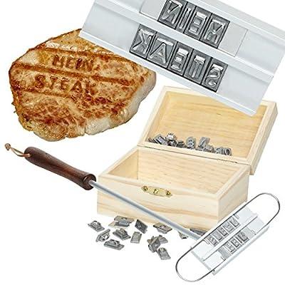 Grillbrandeisen fürs Grillfest - Grillzubehör für Grillparty - Grillbesteck für Spaß beim Grillen - Geschenk für Männer + alle Griller - für Weihnachten oder Geburtstag