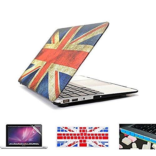 """Tiankaid 0.5 4 en 1 Bandera Retro toldo de plástico Duro + Cubierta del Teclado + Protector de Pantalla + Enchufe del Polvo para el MacBook Pro / 13""""/, 15.4"""""""
