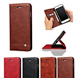 D-Kandy for Lenovo P2,Luxury Leather Flip Wallet Case Stand with Card Holder, Double Layer Folio Book Cover for Lenovo P2 -Tan Brown