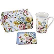 Creative Tops Katie Alice - Jardin anglais Time for Tasse de thé, Coaster & Plateau Gift Set