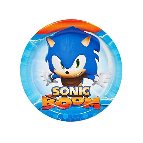 Sonic Boom Party Supplies - Dessert Plates by BirthdayExpress (Party Birthday Supplies Sonic)
