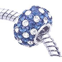 Soleebee plata de ley 925 cuentas de cuentas de cristal encaja Pandora Chamilia pulsera