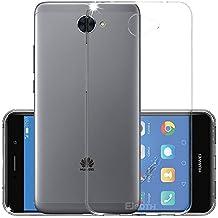 Funda Huawei Y7 2017, EJBOTH TPU Funda Flexible Teléfono Carcasa Protectora espalda Protección Transparente -