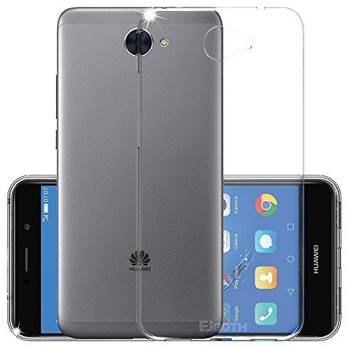 EJBOTH Huawei Y7 2017 Hülle Case hoch transparent Schutzhülle aus TPU Material, komplett Schutz gegen Stoß, Kratzer und Risse