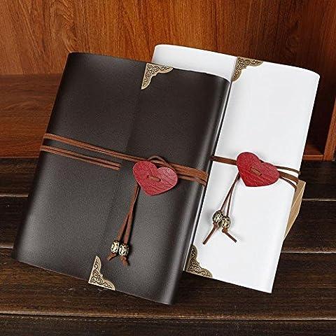 xiduobao Vintage recortes en forma de corazón colgante álbum de fotos, diseño de boda álbum de fotos hecho a mano DIY álbum de fotos especial Regalos. (L), negro, large