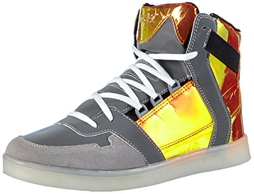 Nat-2 LED Metallic, Baskets Hautes Homme Orange - Orange (orange iridescent)