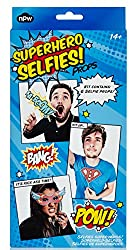 NPW Superhero Selfies Photo Prop Kit, Multicolor