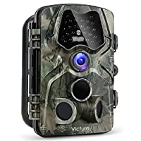 "Victure 1080P Full HD Wildlife Trail Camera Trap 12MP Infrared Cam with Night Vision, 120°Wide Angle, Motion Activated, 2.4""LCD Display for Outdoor Nature, Garden, Home Security Surveillance by Victure"