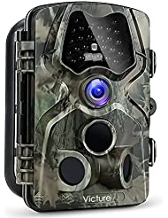 """Victure 1080P Full HD Wildlife Trail Camera Trap 12MP Infrared Cam with Night Vision, 120°Wide Angle, Motion Activated, 2.4""""LCD Display for Outdoor Nature, Garden, Home Security Surveillance"""