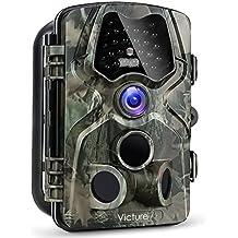 Victure Fotocamera da Caccia 1080P 12MP 120°Ampia visuale Fototrappola Infrarossi Invisibili con Impermeabilita IP66 2.4 Pollici Schermo LCD Camera per la Caccia Esplorazione e Sorveglianza Casa
