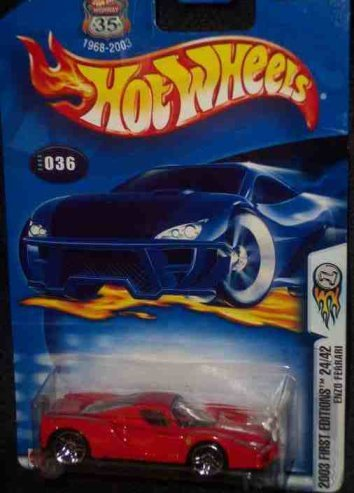 2003 First Editions -#24 Enzo Ferrari #2003-36 Mattel Hot Wheels 1:64 Scale Collectible Die Cast Car by Hot Wheels