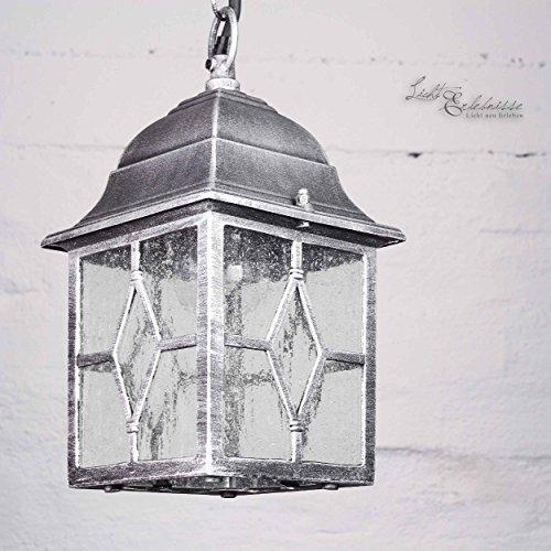 Classique Lampe d'extérieur en argent antique E27 max. 60W, LED adapté Profondeur 30cm Lampe À Suspension Lampe de jardin Hoengeleuchte