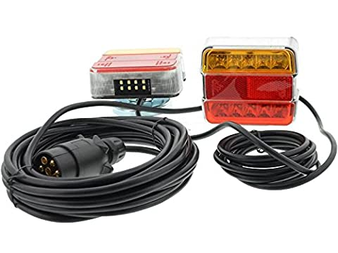 12V LED-Beleuchtung auf Magnet / 4 Funktionen Beleuchtungssatz