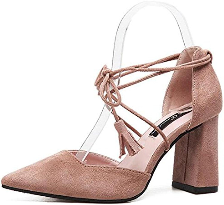 KUKI Bretelles croisées sandales à à à talons hauts glands féminins , Rose  , US7.5 / EU38 / UK5.5 / CN38B07BFFHX68Parent e72d7d
