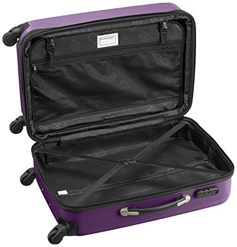 HAUPTSTADTKOFFER - Alex - 2er Koffer-Set Hartschale glänzend, 65 cm + 55 cm, 74 Liter + 42 Liter, Graphit-Blau Apfelgrün-Aubergine