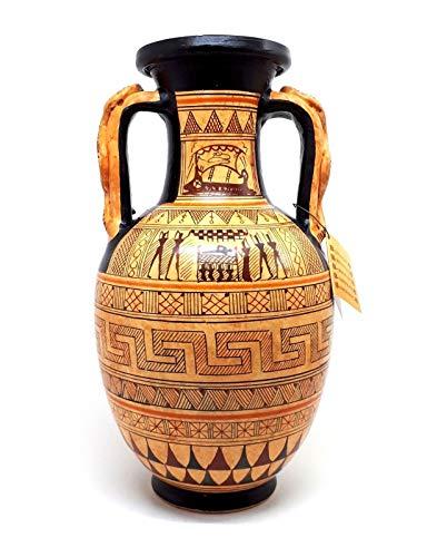 Vase, antikes griechisches Keramik, Amphora-Schlangengriff, geometrische Kunst, Keramik, Griechenland - Griechische Vasen