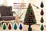 Youseexmas - Albero di Natale in fibra ottica con LED colorati, 9 effetti luce, altezza