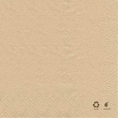 HANTERMANN Servietten Bio Premium Tissue mit Bio-Siegel | 250 Stück | 33 x 33cm | 2-lg. | 1/4 Falz | Bioserviette | hochwertige Serviette für Geburtstag, Feier, Party, Grillen | Made in Germany