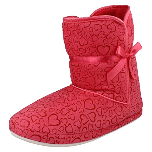 Spot On , Chaussons pour femme Rose - Fuchsia