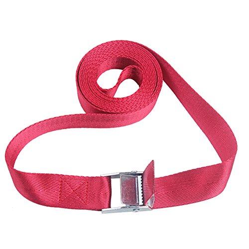 Pack Cam Tie Down Nylon Gurt Lash Gepäck Tasche Gürtel Metall Schnalle (2m, rot) (Tie-down Schnalle)