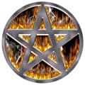 DJ Record Turntable Slipmats PENTAGRAM FIRE SLIPMAT x 1 (Single) birthday funny gift for him for her