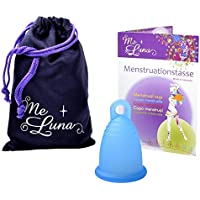 Me Luna Coupe menstruelle Classic, bague, bleu, Taille M