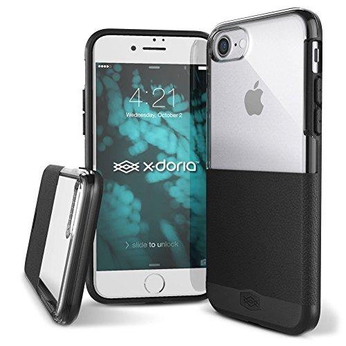 iPhone X hülle, X-Doria Dash Serie,Soft TPU, Polycarbonat Schutzhülle für Apple iPhone X - Schwarz Schwarz