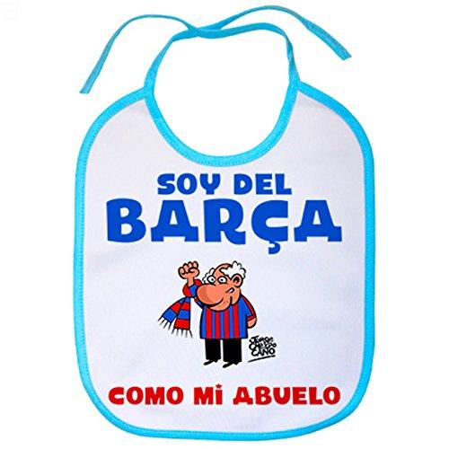 Babero soy del Barça como mi abuelo - Celeste