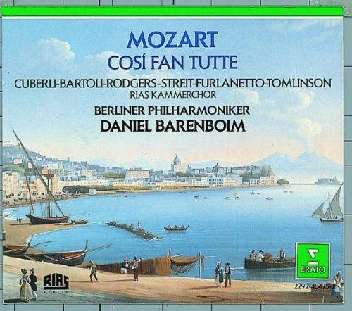 Mozart - Cosi fan tutte / Cuberli, Bartoli, Rodgers, Streit, Furlanetto, Tomlinson, RIAS, Berlin Phil., Barenboim [Import USA]
