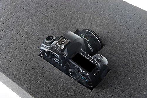 500mm x 350mm x 45mm - Rasterschaumstoff Würfelschaum Werkzeugkoffer Kamerakoffer Schaumstoff (A)