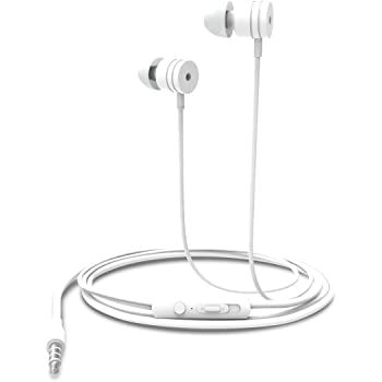 Portronics Por-764 Conch 204 in-Ear Stereo Headphone (White)