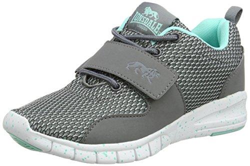 Lonsdale Novas, Chaussures de Running Compétition Femme Grey (Grey/Mint)