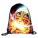 phjyjyeu Space Awesome Face 3D Print Kordelzug Rucksack Sport Turnbeutel daypackon M Space Awesome face1