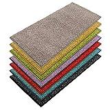 casa pura Teppich Läufer Luxury | Moderne Shaggy Optik mit flauschigem Hochflor | Teppichläufer in vielen Farben für Flur, Schlafzimmer, Wohnzimmer etc. | viele Breiten und Längen (66 x 100cm, grau)