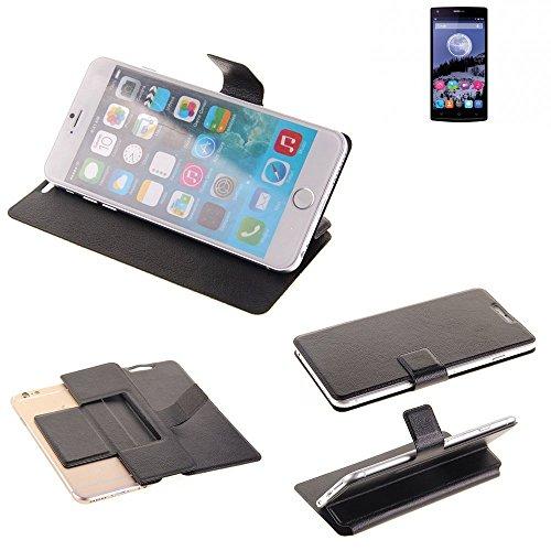 K-S-Trade Schutz Hülle für Switel eSmart E2 Schutzhülle Flip Cover Handy Wallet Case Slim Handyhülle bookstyle schwarz