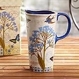 LOYWT Hand bemalte Keramik-Schalen, Geschenkbox, kreative Kaffeetassen, Tassen, Becher, 3Ctm5126L