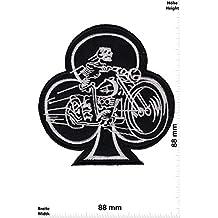 Patch - Kreuz - Skull Racer - Cafe Racer - Biker - Rocker - Chopper - Weste - Patches - Aufnäher Embleme Bügelbild Aufbügler