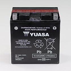Batterie 12V 18AH YTX20CH-BS Wartungsfrei Yuasa XL 1000 VA Varadero ABS SD02 VN 1700 Voyager VNT70A Stelvio 1200