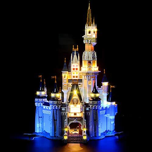 LIGHTAILING Conjunto de Luces (Castillo Disney) Modelo de Construcción de Bloques - Kit de luz LED Compatible con Lego 71040 (NO Incluido en el Modelo)