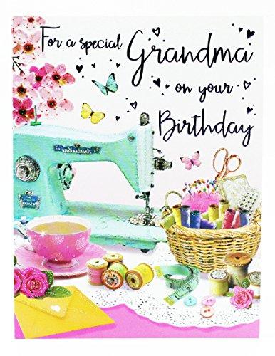 Happy Birthday Grußkarte für Oma niedliche Hallmark Vers Traditionelle Damen