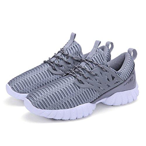 Hommes Respirant Chaussures de sport Entraînement Randonnée Chaussures de voyage Chaussures de course Formateurs gray